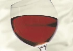 Rotwein Glas Wein