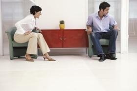 Scheidung junges Paar