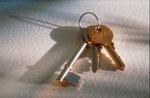 Schlüssel auf weißem Untergrund