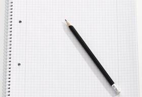 Schreibblock mit Bleistift