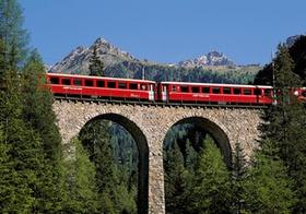 Schweiz Bahn und Berge