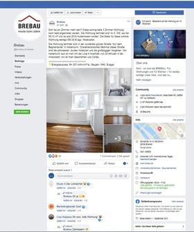 Screenshot Brebau Facebook