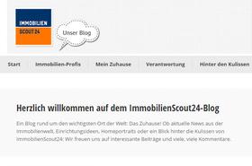Screenshot Immobilienscout 24 Blog