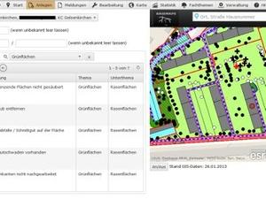 Dienstleistungen: Online-Meldeportal Grünflächenmanagement