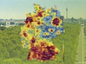Situation des Wohnungsmarktes in Deutschland - Wohnwetterkarte