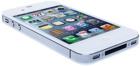 Liegendes, weisses iPhone