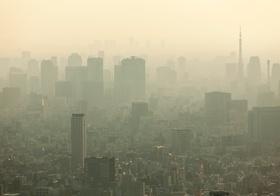 Smog Nebel Großstadt Klima trüb Stimmung