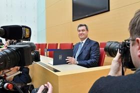 Söder-Vereidigung im Bayerischen Landtag