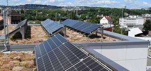 Förderung von Solaranlagen und Dachbegrünung