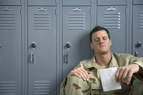 Soldier Reading Letter from Home