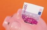 Sparschwein mit 500 Euro-Schein