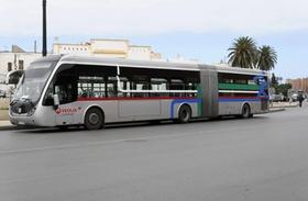 Stadtbus, Linienbus, Asilah, Marokko, Afrika