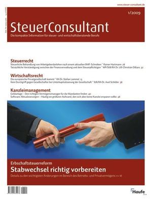SteuerConsultant Ausgabe 1/2009 | SteuerConsultant