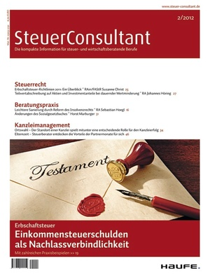 SteuerConsultant Ausgabe 2/2012 | SteuerConsultant