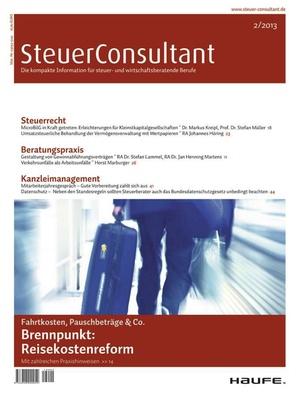 SteuerConsultant Ausgabe 2/2013 | SteuerConsultant
