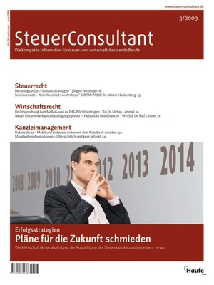 SteuerConsultant Ausgabe 3/2009   SteuerConsultant