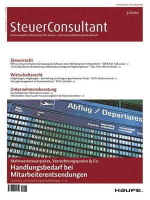 SteuerConsultant Ausgabe 3/2010 | SteuerConsultant
