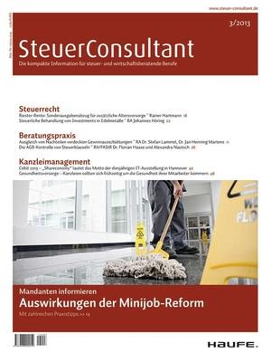 SteuerConsultant Ausgabe 3/2013 | SteuerConsultant