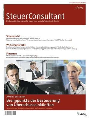 SteuerConsultant Ausgabe 4/2009   SteuerConsultant