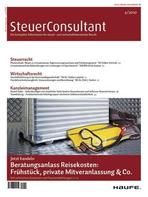 SteuerConsultant Ausgabe 4/2010 | SteuerConsultant