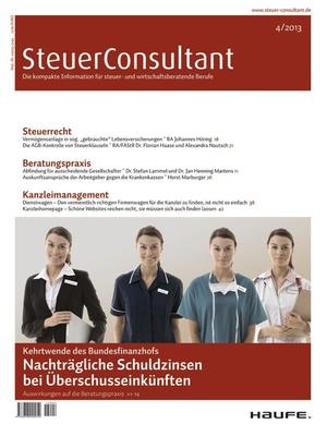 SteuerConsultant Ausgabe 4/2013 | SteuerConsultant