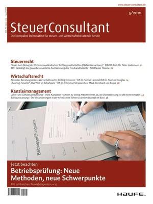 SteuerConsultant Ausgabe 5/2010 | SteuerConsultant