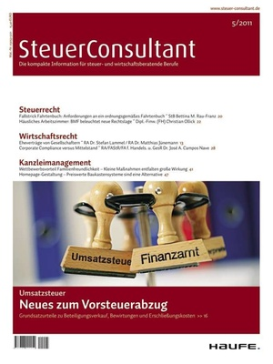 SteuerConsultant Ausgabe 5/2011 | SteuerConsultant