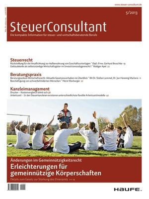 SteuerConsultant Ausgabe 5/2013 | SteuerConsultant