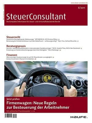SteuerConsultant Ausgabe 6/2011 | SteuerConsultant