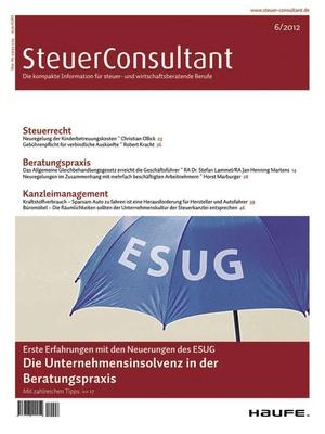 SteuerConsultant Ausgabe 6/2012 | SteuerConsultant