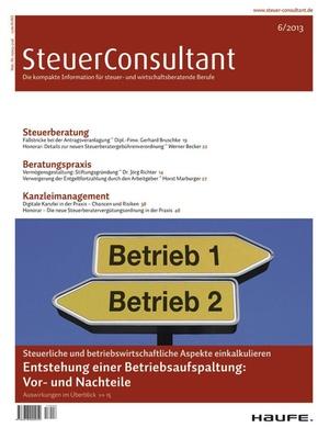 SteuerConsultant Ausgabe 6/2013 | SteuerConsultant