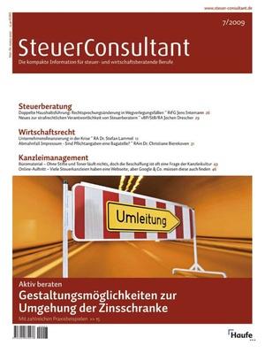 SteuerConsultant Ausgabe 7/2009 | SteuerConsultant