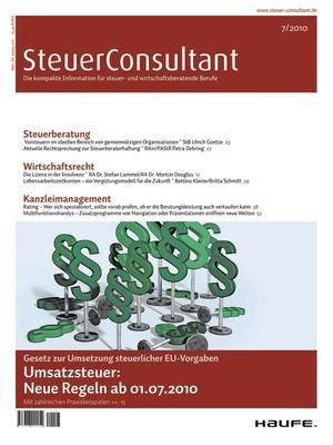 SteuerConsultant Ausgabe 7/2010 | SteuerConsultant