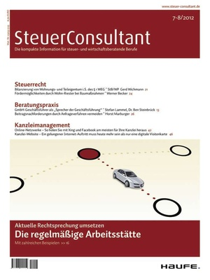SteuerConsultant Ausgabe 7/2012   SteuerConsultant