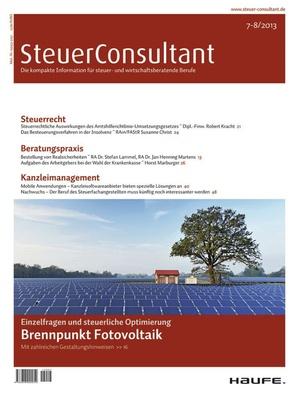 SteuerConsultant Ausgabe 7+8/2013   SteuerConsultant