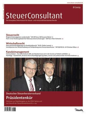 SteuerConsultant Ausgabe 8/2009   SteuerConsultant