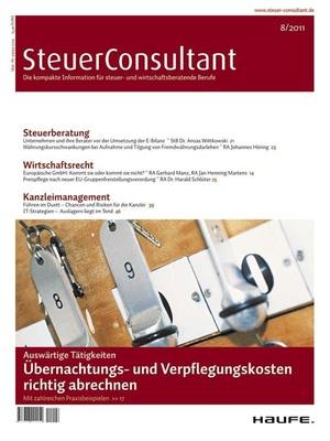 SteuerConsultant Ausgabe 8/2011   SteuerConsultant