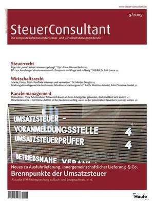 SteuerConsultant Ausgabe 9/2009 | SteuerConsultant