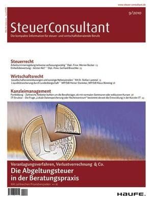 SteuerConsultant Ausgabe 9/2010 | SteuerConsultant