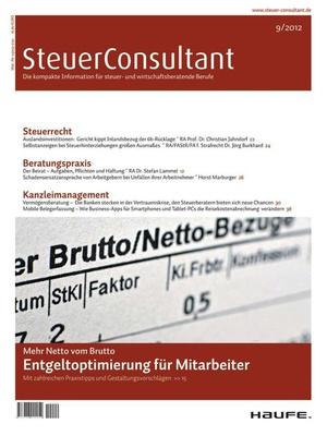 SteuerConsultant Ausgabe 9/2012 | SteuerConsultant