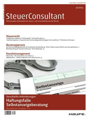 SteuerConsultant Ausgabe 9/2013   SteuerConsultant