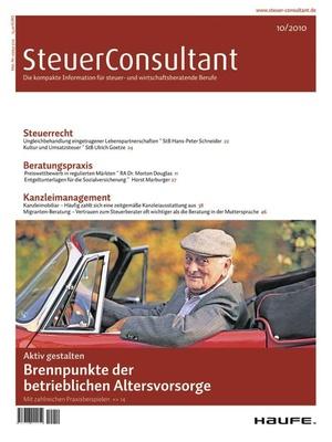 SteuerConsultant Ausgabe 10/2010 | SteuerConsultant