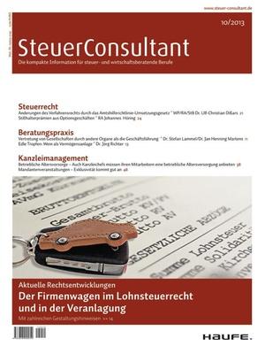 SteuerConsultant Ausgabe 10/2013 | SteuerConsultant