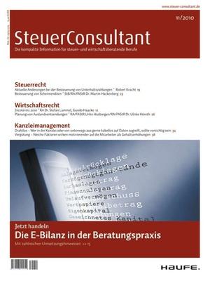 SteuerConsultant Ausgabe 11/2010   SteuerConsultant