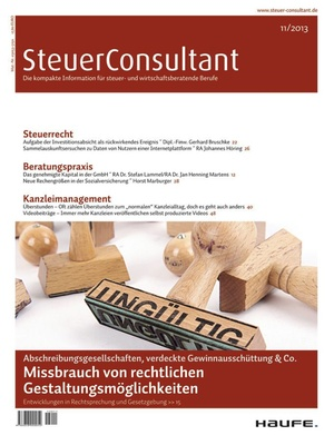 SteuerConsultant Ausgabe 11/2013   SteuerConsultant