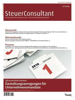 SteuerConsultant Ausgabe 12/2009 | SteuerConsultant
