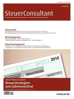 SteuerConsultant Ausgabe 12/2010 | SteuerConsultant