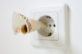 Money, Electricity, Consumption of electricity, Electrical socket, Concept