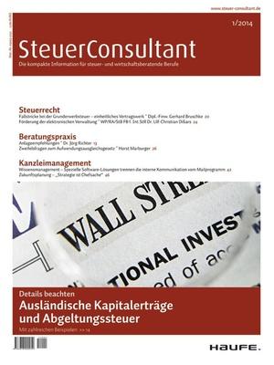 SteuerConsultant Ausgabe 1/2014 | SteuerConsultant