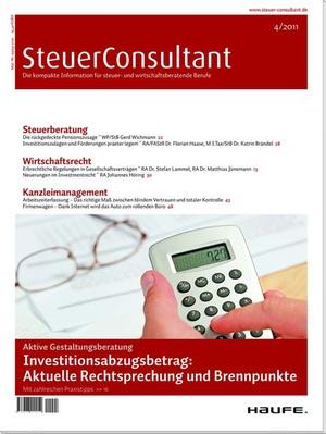 SteuerConsultant Ausgabe 4/2011 | SteuerConsultant
